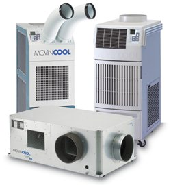 MovinCool portable air conditioning units for server rooms