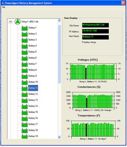 Remote battery monitoring for UPS - Screen shot