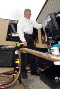 Generator diesel fuel maintenance system